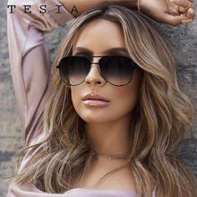 Load image into Gallery viewer, Classic Pilot Sunglasses Women Luxury Brand Designer Glasses Elegant Mirror Aviation Sun Glasses Metal Frame Oculos Aviador