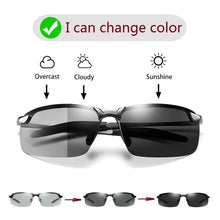 Load image into Gallery viewer, Photochromic Sunglasses Men Polarized Driving Chameleon Glasses Male Change Color Sun Glasses Day Night Vision Driver's Eyewear