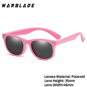 WarBlade New Kids Polarized Sunglasses TR90 Boys Girls Sun Glasses Silicone Safety  Glasses Gift For Children Baby UV400 Eyewear