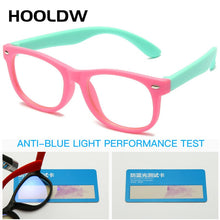 Load image into Gallery viewer, HOOLDW Anti blue Light Kids Glasses Children Square Optical Frame Eyeware Boy Girls Square Computer Transparent Eyeglasses UV400