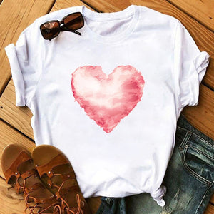 Maycaur Vogue T Shirt Women Summer Casual Tshirts Tees Harajuku Korean Style Graphic Tops 2020 Kawaii Female T-shirt,Drop Ship