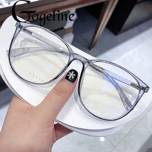 Anti Blue Light Glasses Blocking Filter Round Computer Glasses Men Women Super Light Frame Eyeglasses Pink Clear Spectacles
