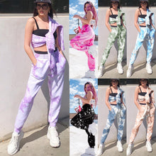 Load image into Gallery viewer, 2020 New Tie Dye Sweatpants Women Joggers Casual Trousers Baggy Pants Streetwear High Waist Sweat Pant Woman Full Capris Rainbow