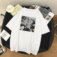 Load image into Gallery viewer, Women T-Shirts Angel Protect Me From My Devil Print Tshirt Harajuku Vintage Shirt Summer Woman Vogue Tops Female T-shirt Clothes