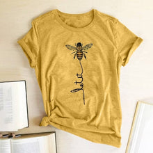 Load image into Gallery viewer, Hillbilly Women Bee Kind T-shirt Aesthetics Graphic Short Sleeve Cotton Polyester T Shirts Female Camisetas Verano Mujer 2020