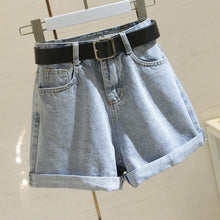 Load image into Gallery viewer, Women Shorts Casual Denim Shorts Crimping High Waist Slim Summer Jeans Shorts Feminino Chic Hot Ladies Bottom