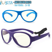 Load image into Gallery viewer, IVSTA Pilot Computer Glasses anti blue light rays Kids Aviation Children Boys Optical Frames Prescription Eyeglasses Myopia Baby