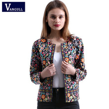 Load image into Gallery viewer, Vangull 2018 New Spring Floral Print Jacket Autumn Basic Jacket for Women Multicolor Elegant Jackets and Coats Feminina