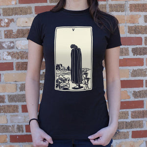 Tarot Five Of Cups T-Shirt (Ladies)
