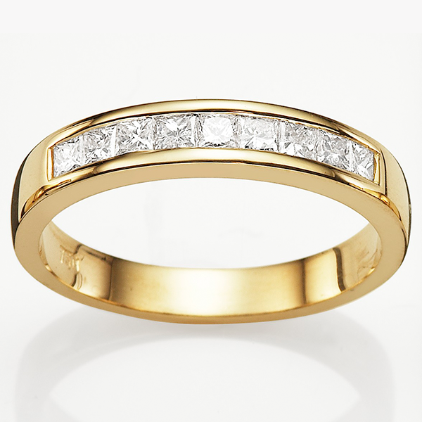 18Ct Yellow Gold 0.45Ct Diamond Wedding Ring