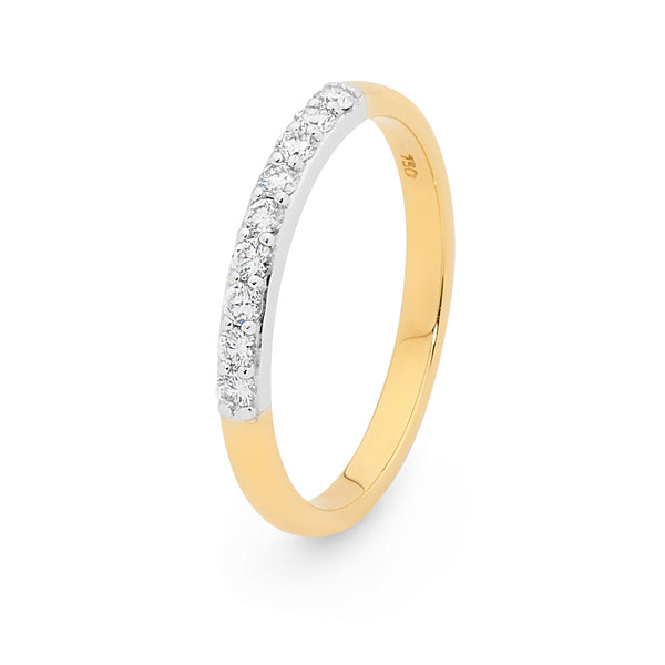 18ct Yellow Gold 0.23ct Diamond Wedding Ring