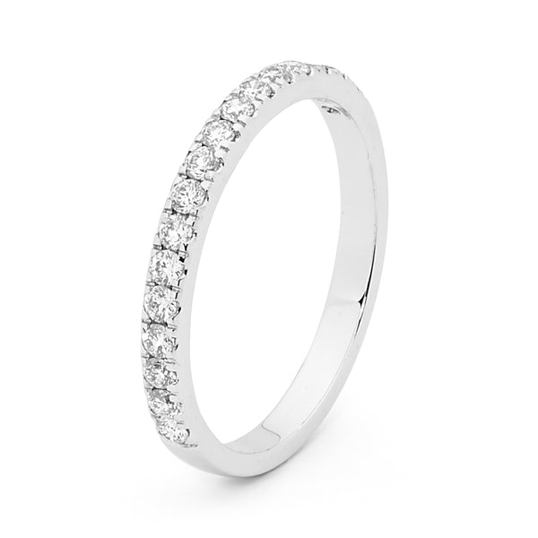 18ct White Gold 0.34ct Diamond Wedding Ring