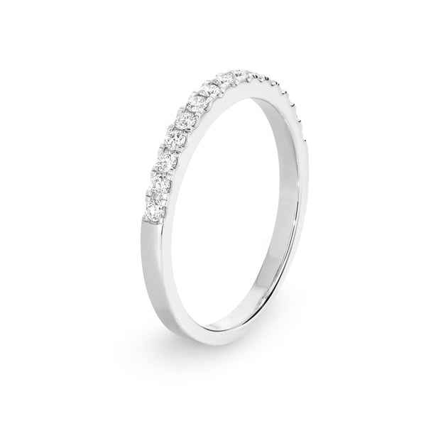 18ct White Gold 0.28ct Diamond Wedding Ring