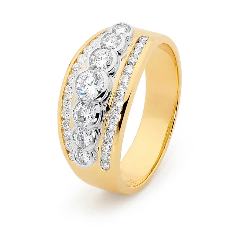 18ct Yellow Gold 1.00ct Diamond Ring
