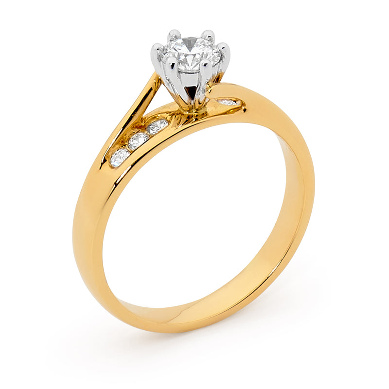 18ct Yellow Gold 0.45ct Diamond Ring