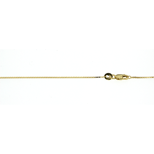 9Ct Yellow Gold Box Chain 40Cm