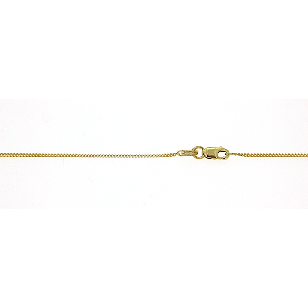 9Ct Yellow Gold Curb Chain 45Cm