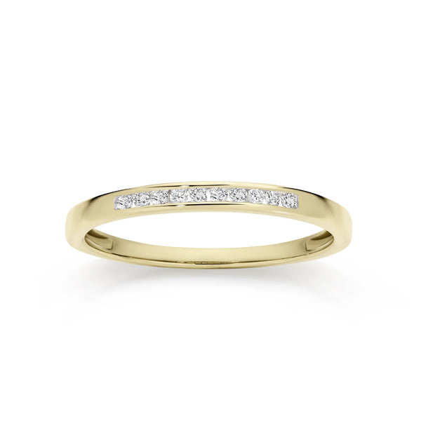 9Ct Yellow Gold 0.10Ct Diamond Ring