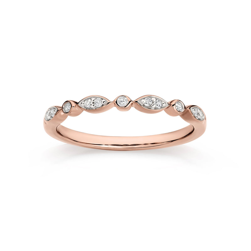 9Ct Rose Gold 0.10Ct Diamond Ring