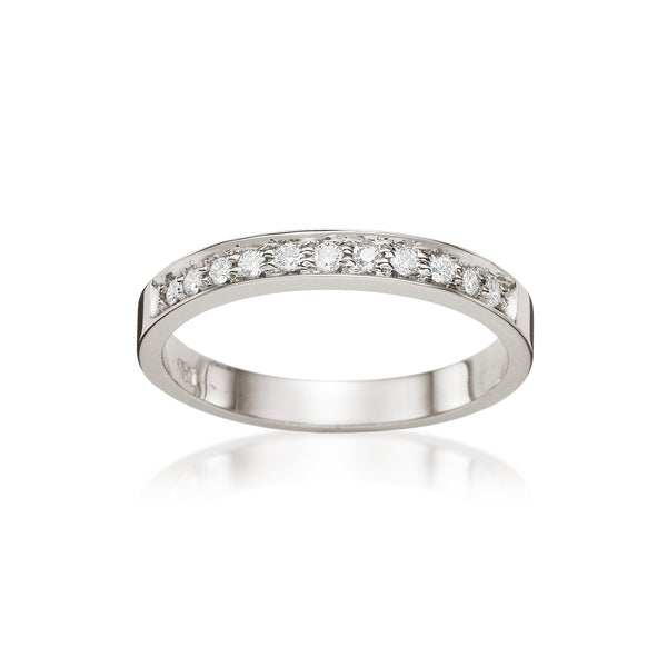 18Ct White Gold 0.16Ct Diamond Ring