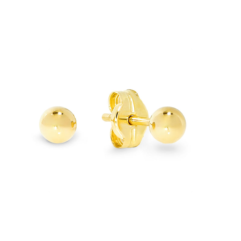 9ct gold 3mm ball studs