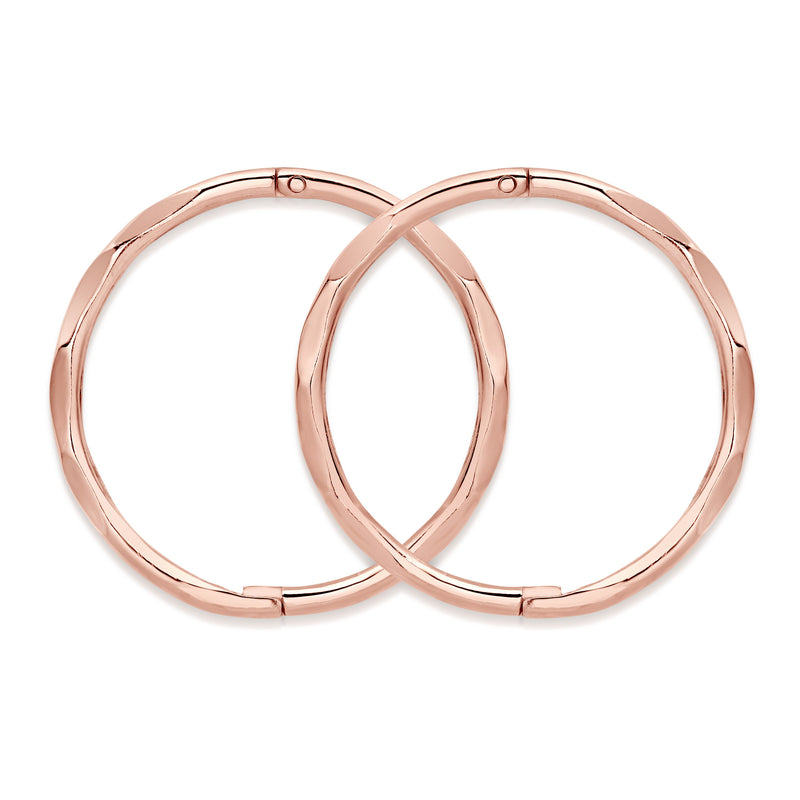 9ct rose gold large faceted sleepers