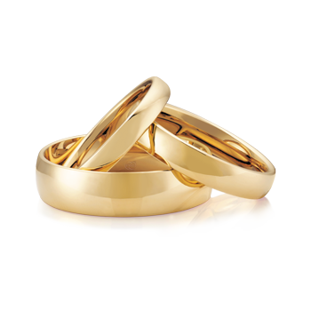 18ct Yellow Gold Traditional Wedding Ring