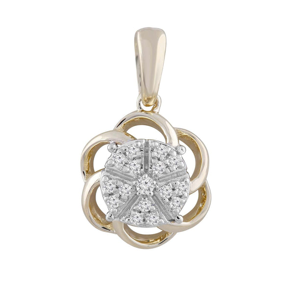 Pendant with 0.08ct Diamond in 9K Yellow Gold