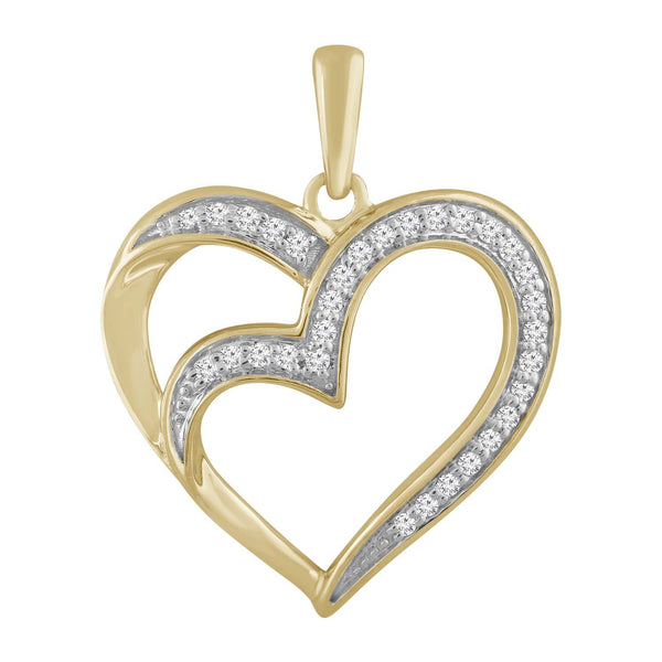 Heart Pendant with 0.08ct Diamond in 9K Yellow Gold