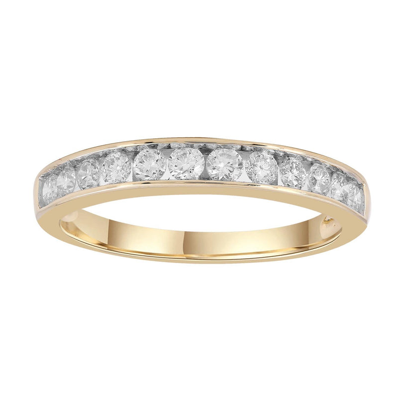 Band Ring with 0.5ct Diamonds in 9K Yellow Gold