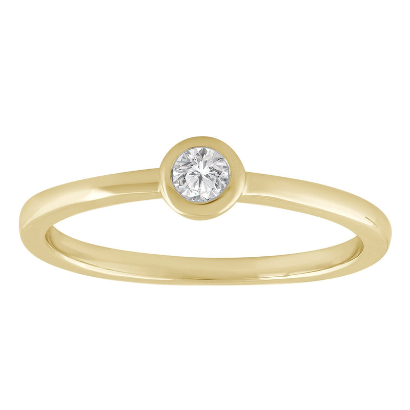 Solitaire Ring with 0.25ct Diamond in 9K Yellow Gold