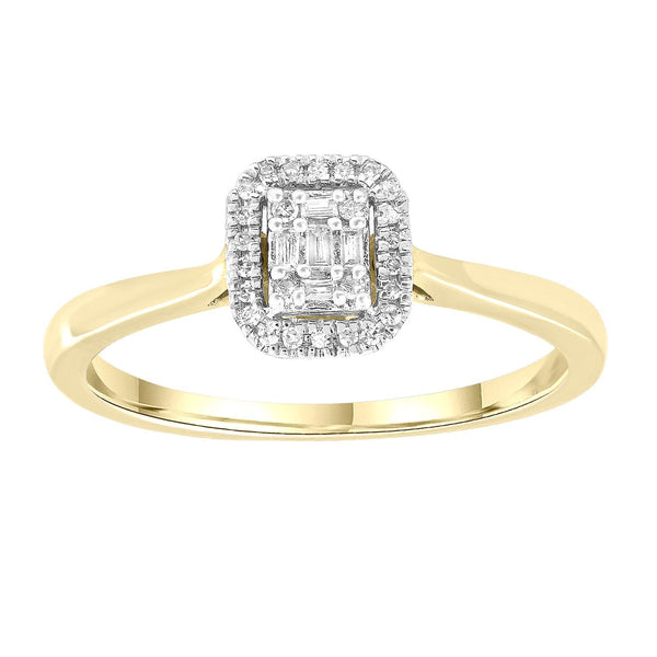 Ring with 0.08ct Diamonds in 9K Yellow Gold
