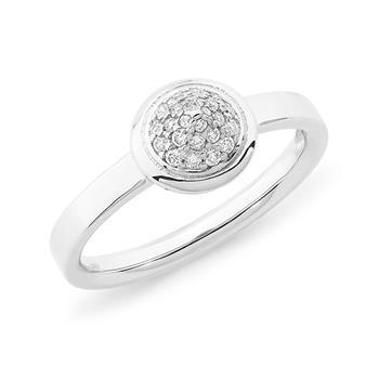 Diamond Pave Diamond Dress Ring in 9ct White Gold