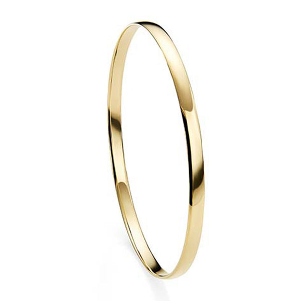 9ct gold solid bangle