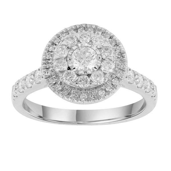 Ring with 1ct Diamonds in 18K White Gold
