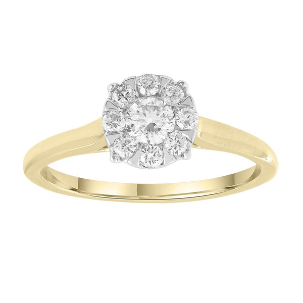 Ring with 0.4ct Diamonds in 9K Yellow Gold