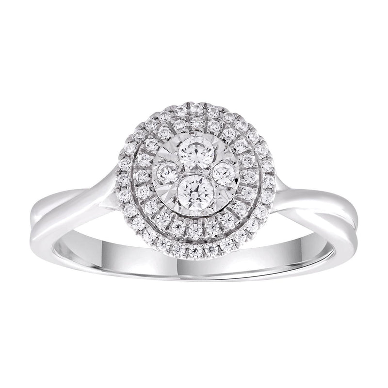 Ring with 0.25ct Diamonds in 9K White Gold