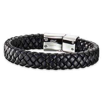 Save Brave Harry Black Leather Bracelet 21cm