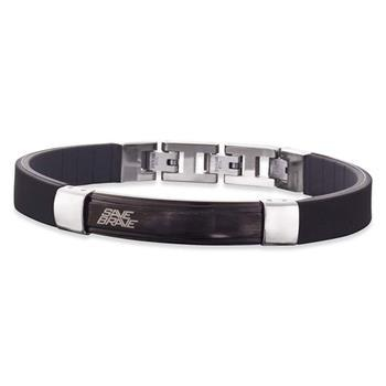 Save Brave Uncle Black Leather Bracelet 19+3cm