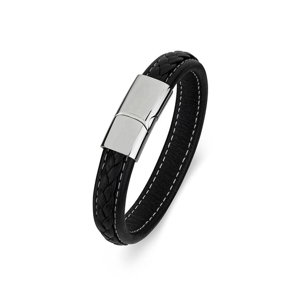 Blaze Mens Leather Bangle