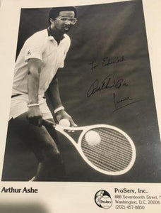 Arthur Ashe 8x10 B&W photo autographed personalized - LW Sports
