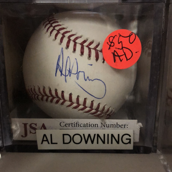 Al Downing autographed MLBall - LW Sports