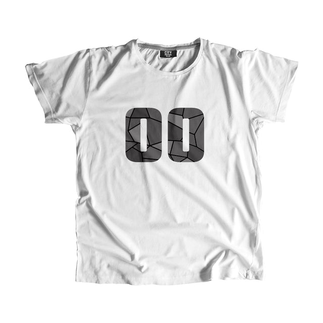 00 Number Men Women Unisex T-Shirt (White)