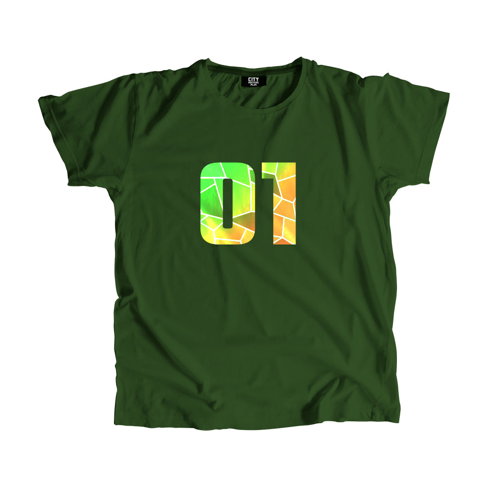 01 Number Men Women Unisex T-Shirt