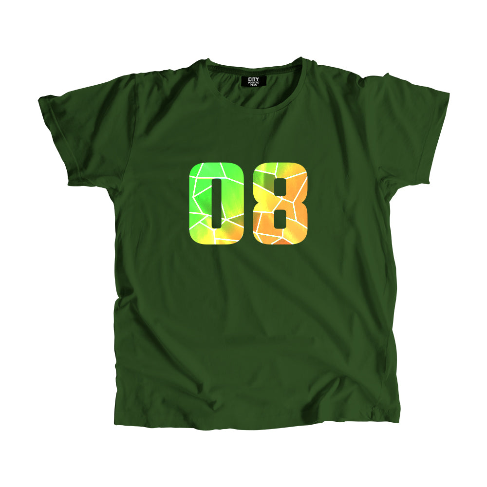 08 Number Men Women Unisex T-Shirt