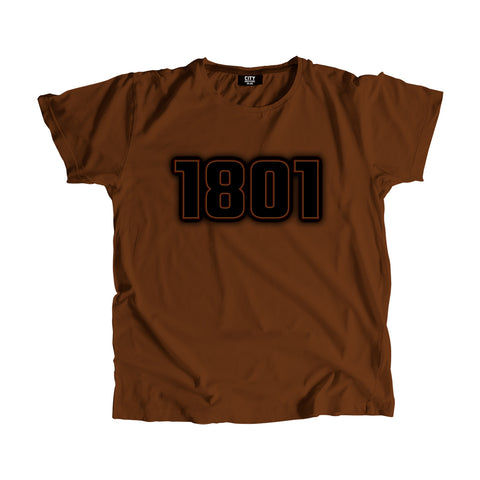1801 Year Men Women T-Shirt