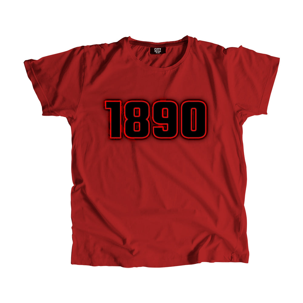 1890 Year Men Women Unisex T-Shirt