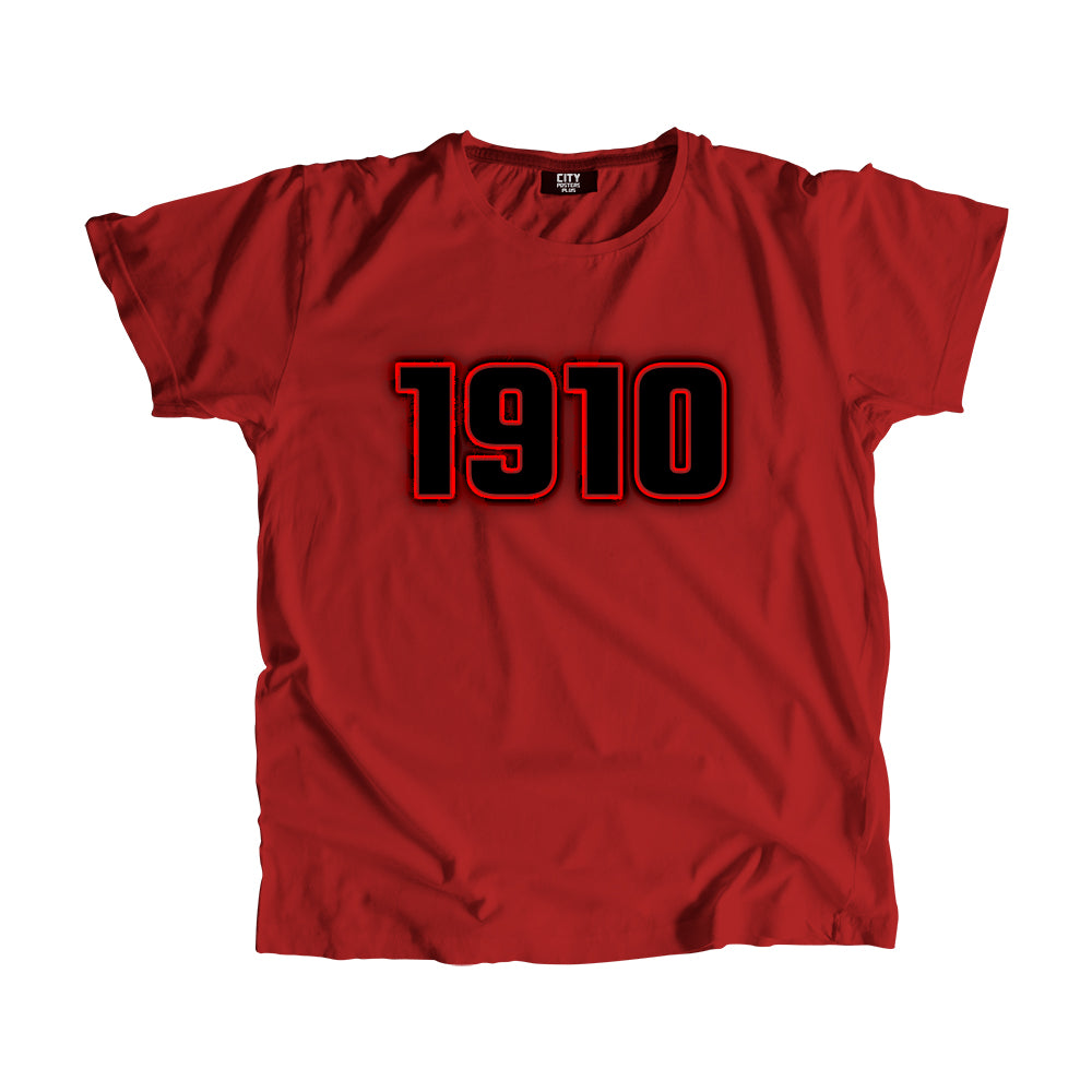 1910 Year Men Women Unisex T-Shirt