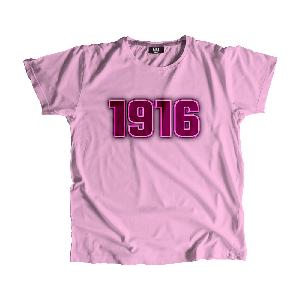 1916 Year Men Women Unisex T-Shirt
