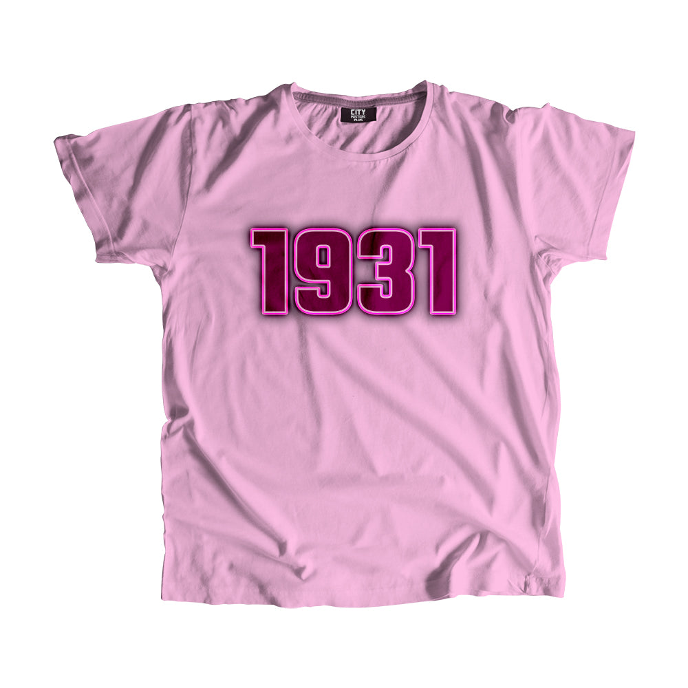 1931 Year Men Women Unisex T-Shirt
